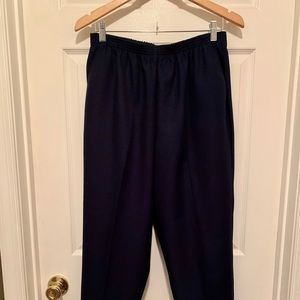 Navy Blue Alfred Dunner Ladies Trousers S14P